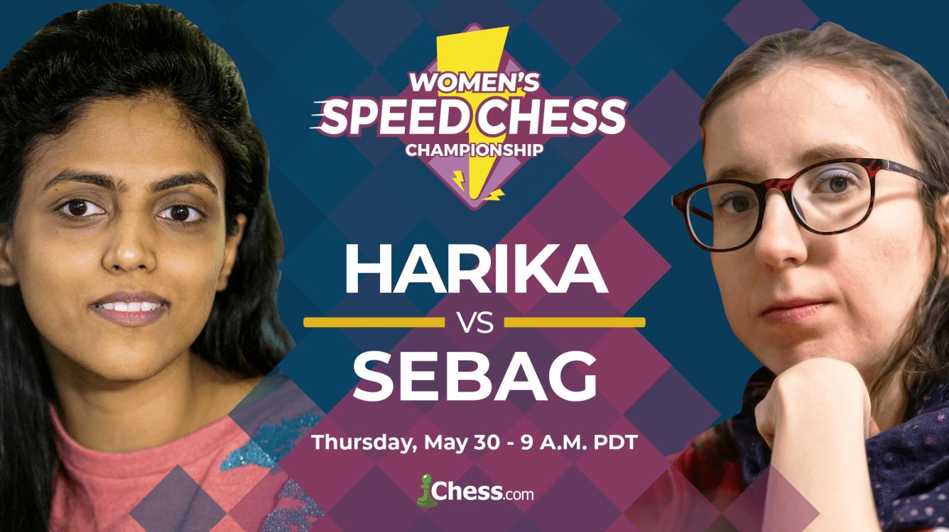 Today: Women's Speed Chess Championship Match Harika-Sebag