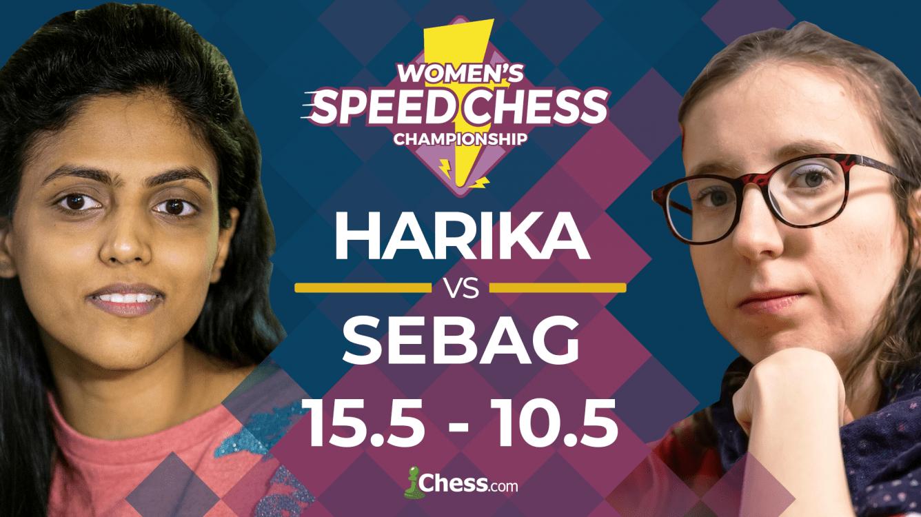 Harika Beats Sebag To Reach Semis Women's Speed Chess Championship