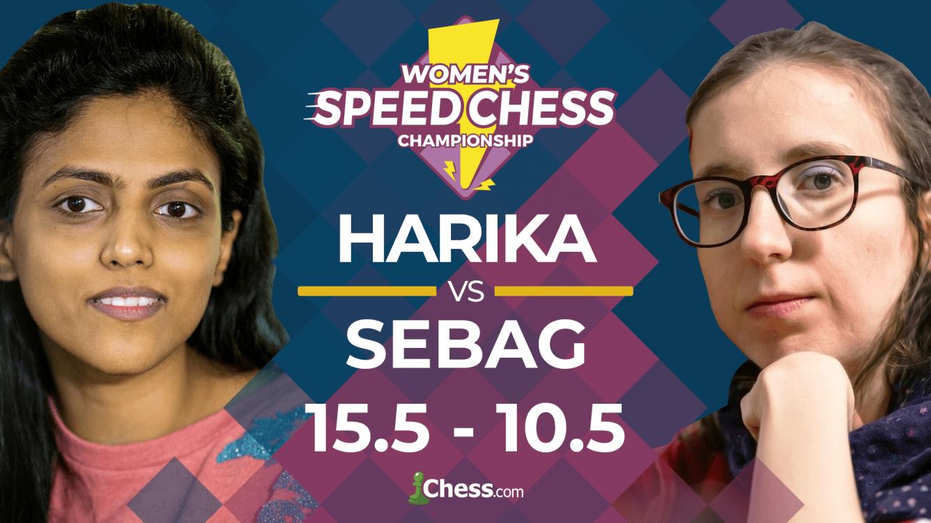 Харика побеждает Себаг и выходит в полуфинал чемпионата по скоростным шахматам среди женщин