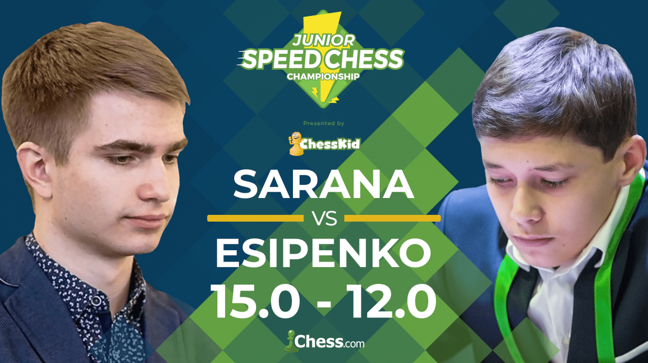 Junior Speed Chess: Sarana Beats Esipenko