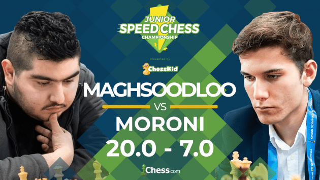 Junior Speed Chess: Maghsoodloo Blows Out Moroni