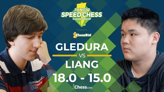 Junior Speed Chess: Gledura Beats Liang In Overtime