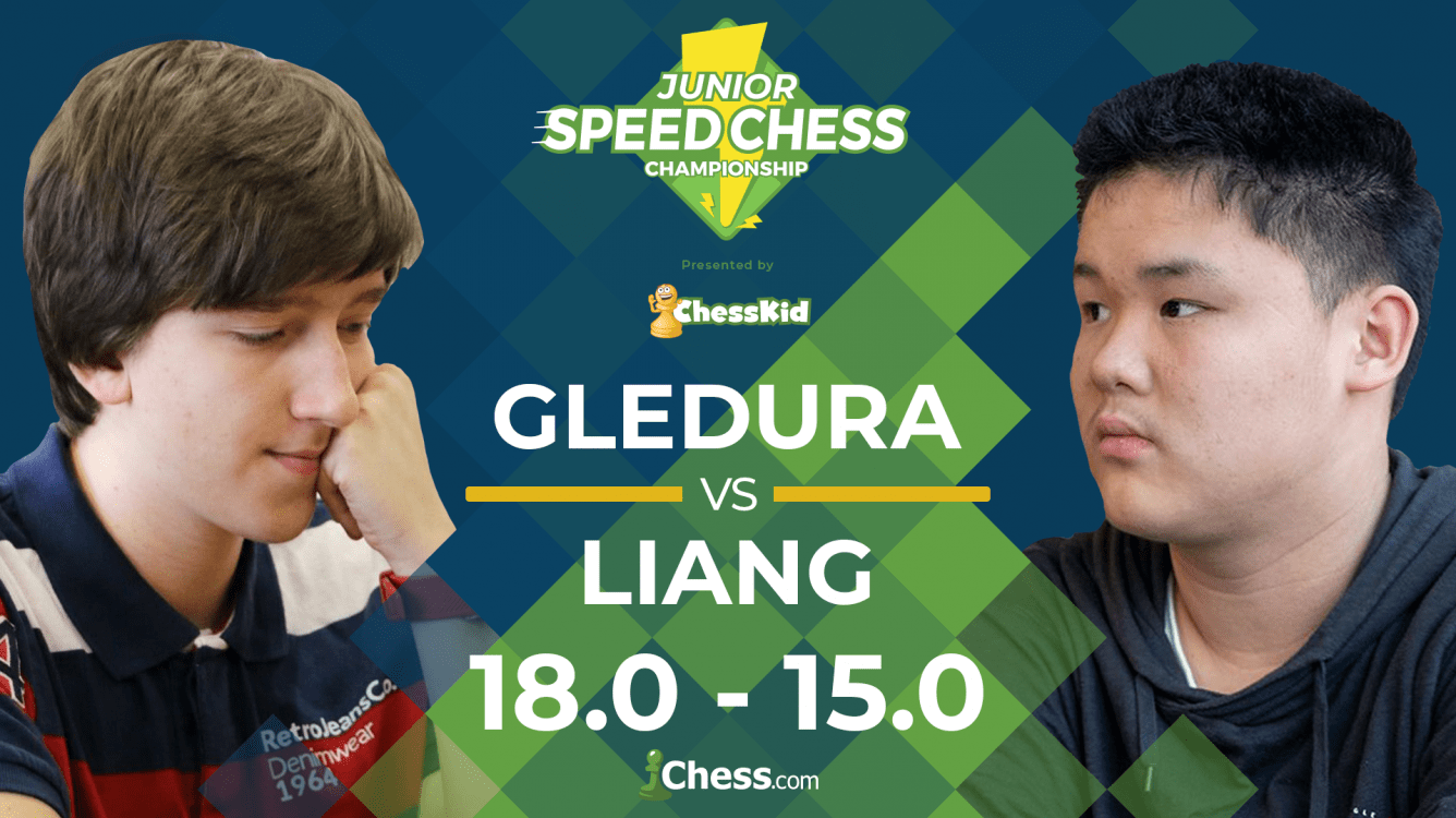 Junior Speed Chess: Gledura Beats Liang In Overtime