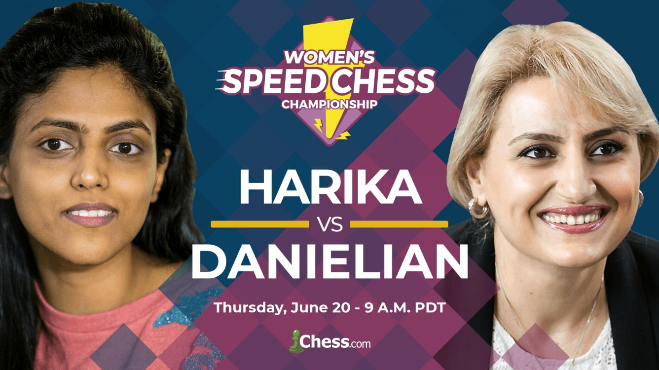 Women's Speed Chess Semifinal: Harika-Danielian Preview
