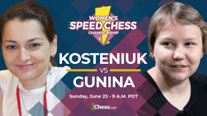 Women's Speed Chess Semifinal Kosteniuk-Gunina Preview