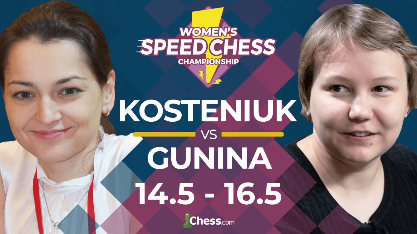 Women's Speed Chess: Gunina Beats Kosteniuk In Biggest Comeback Ever