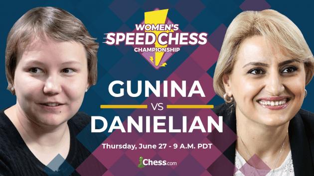 Women's Speed Chess Final Thursday: Gunina vs Danielian