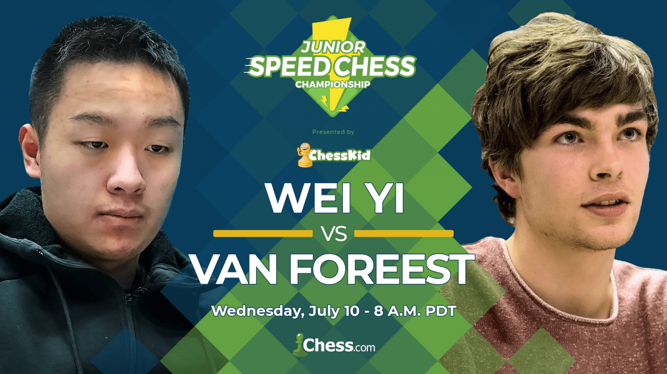 Junior Speed Chess Championship: Wei Yi vs. Van Foreest