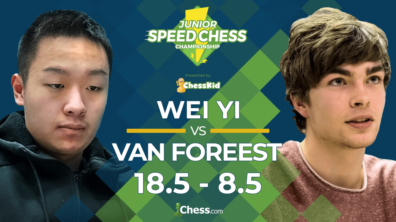 Wei Yi Too Strong For Van Foreest, Reaches Junior Speed Chess Semis