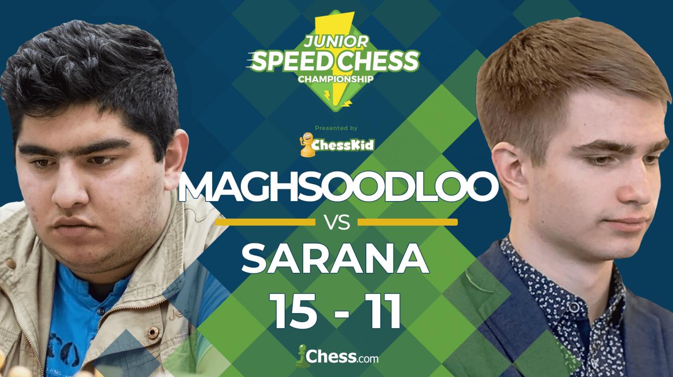 Maghsoodloo Overpowers Sarana, Joins Junior Speed Chess Semis