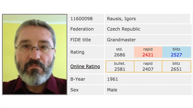 GM Igors Rausis (58) z zarzutami oszustwa