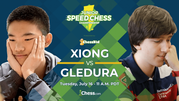Junior Speed Chess Championship: Xiong vs. Gledura