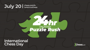 Saturday: Celebrate International Chess Day With 24 Hours Of Puzzle Rush On Chess.com