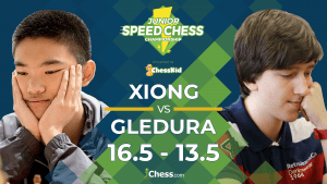 Junior Speed Chess: Xiong Beats Gledura In Overtime