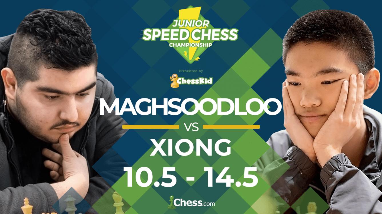 Xiong Beats Maghsoodloo To Reach Junior Speed Chess Final