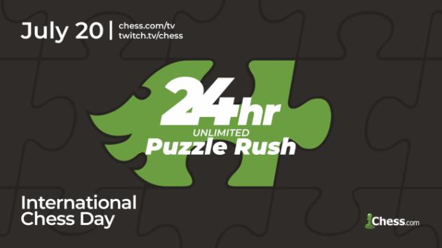24 Stunden Puzzle Rush am internationalen Schachtag!