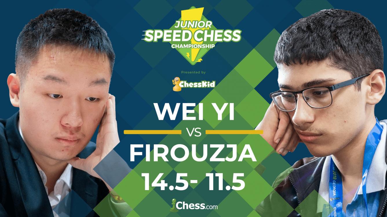 Wei Yi Beats Firouzja; Will Face Xiong In Junior Speed Chess Final