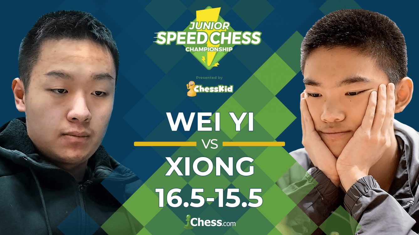 Wei Yi Defeats Xiong In Armageddon To Win Junior Speed Chess Championship