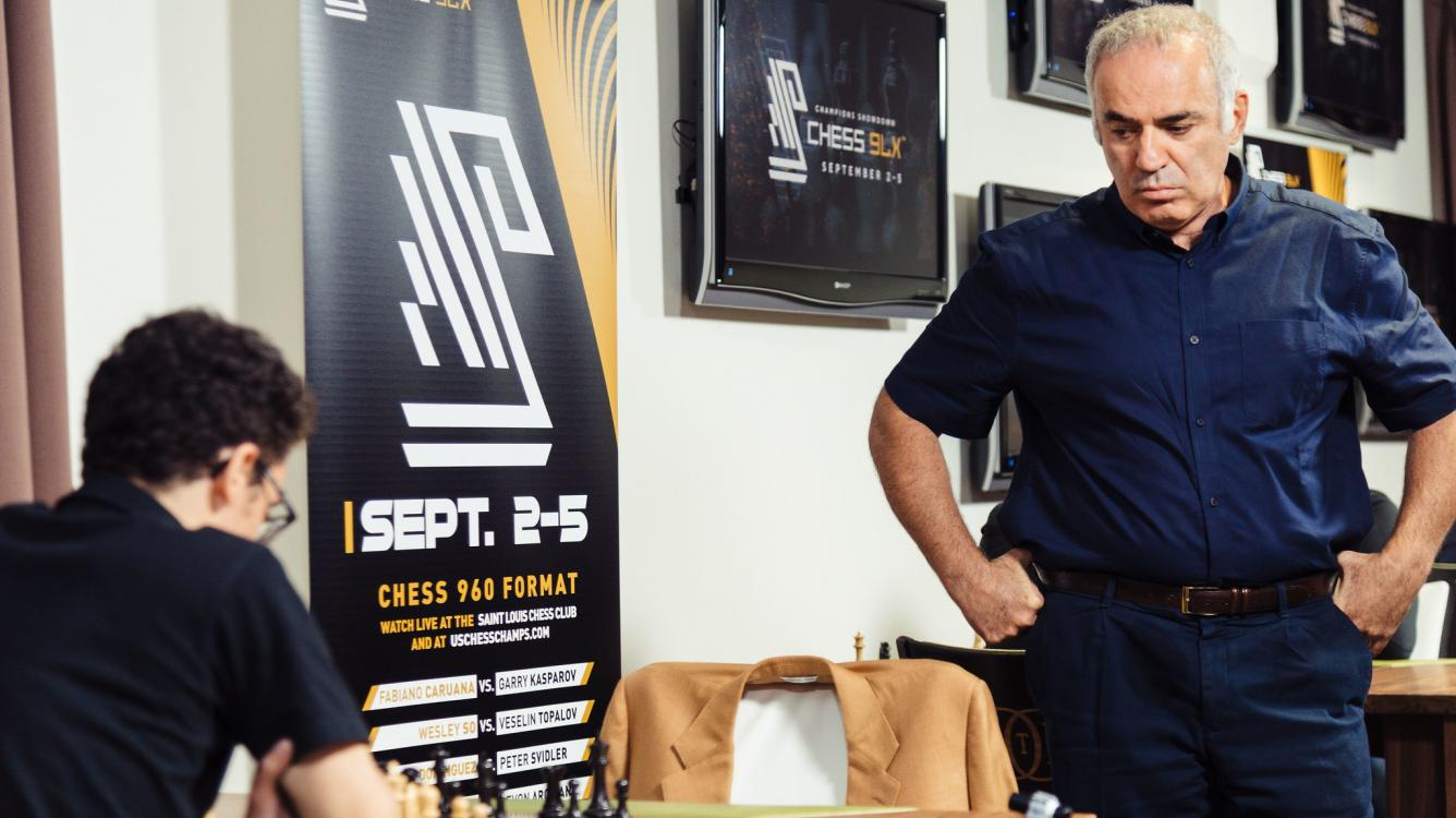Champions Showdown Chess9LX: Kasparov 'Happy'; Caruana Extends Lead