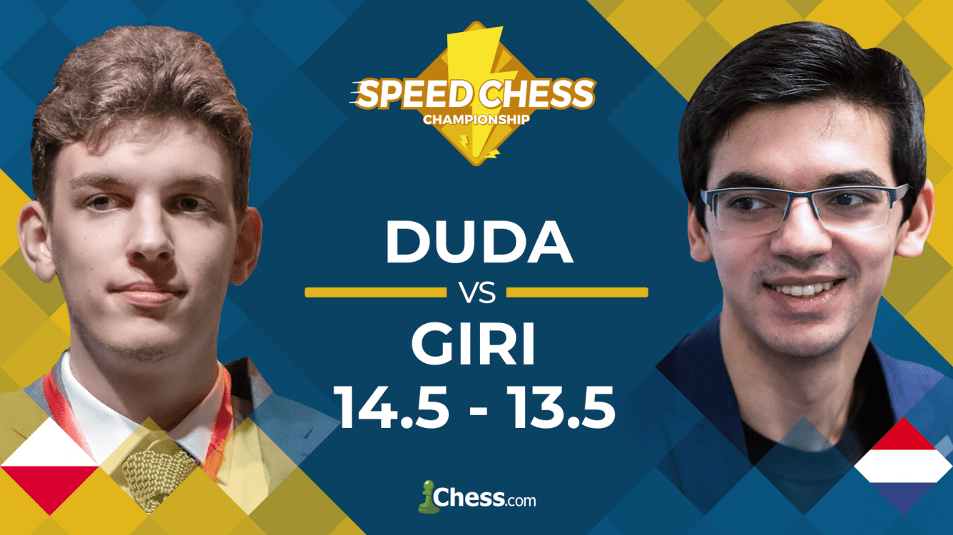 Speed Chess Championship: Duda Beats Giri After Bullet Comeback