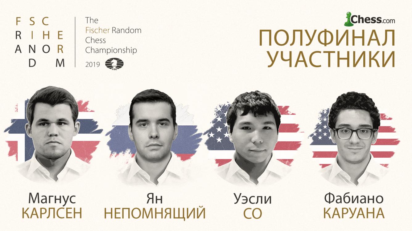 Чемпионат мира по шахматам Фишера: Непомнящий, Каруана и Со выходят в полуфинал