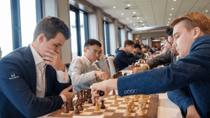 FIDE Chess.com Grand Swiss: 4 Players Lead; Carlsen Escapes