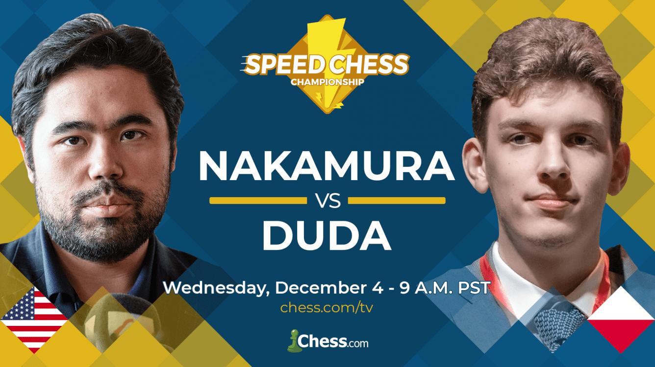 Nakamura Defeats Duda 15.5-11.5 To Advance In Speed Chess Championship