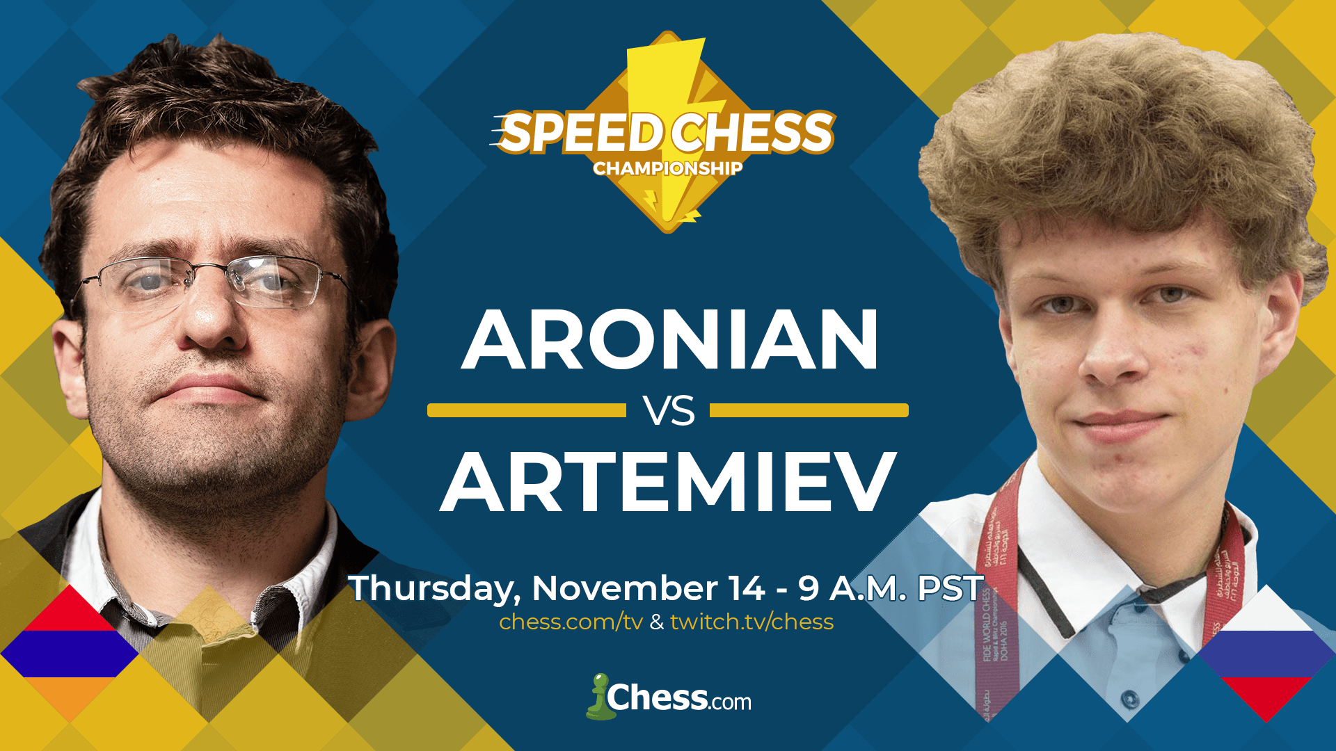 Speed Chess Championship Match Aronian-Artemiev Preview - Chess.com
