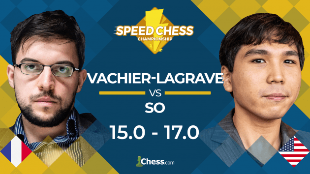 So Beats Vachier-Lagrave In Speed Chess Quarterfinal