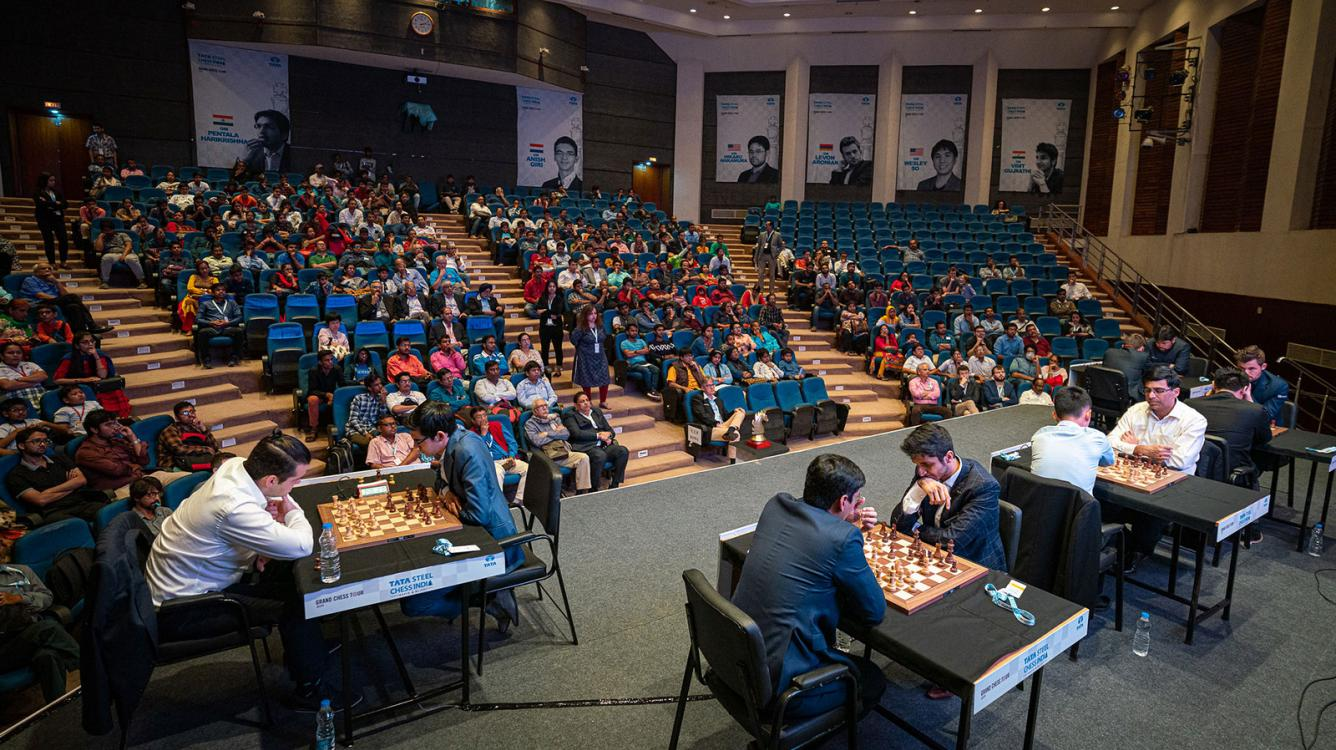 Carlsen Leads As Tata Steel Chess India Rapid & Blitz Takes Off