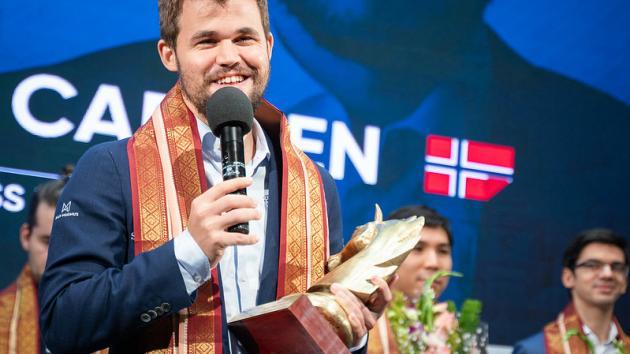 Калькутта Grand Chess Tour: Карлсен занял первое место, побив свой рекорд