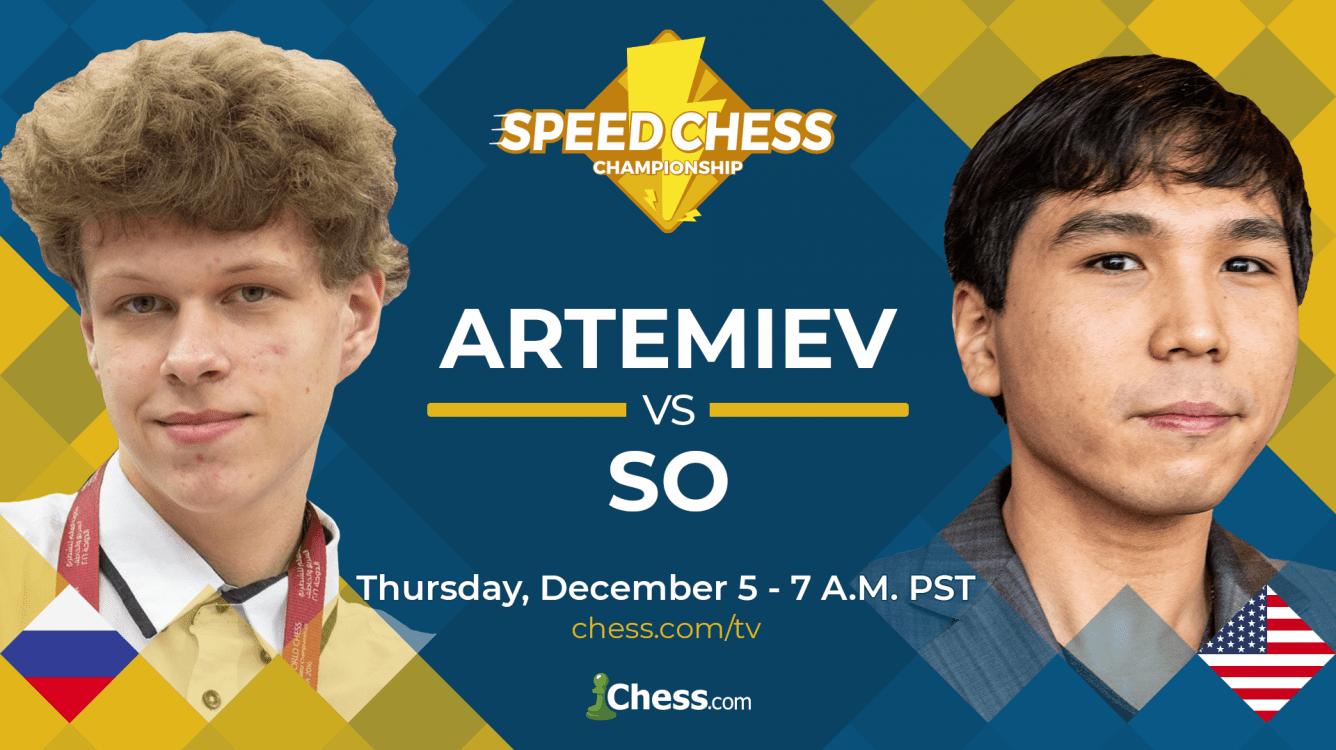 Speed Chess Championship Semifinal, Artemiev vs So