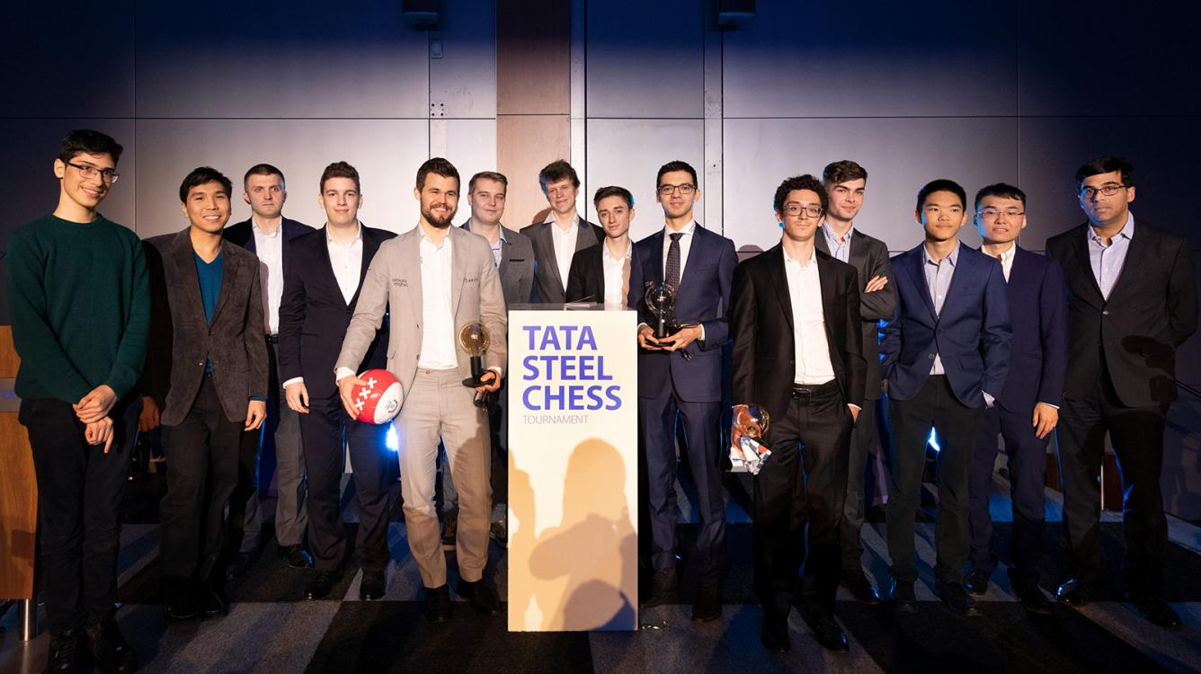 Tata Steel Chess Tournament Opens With Carlsen-Giri