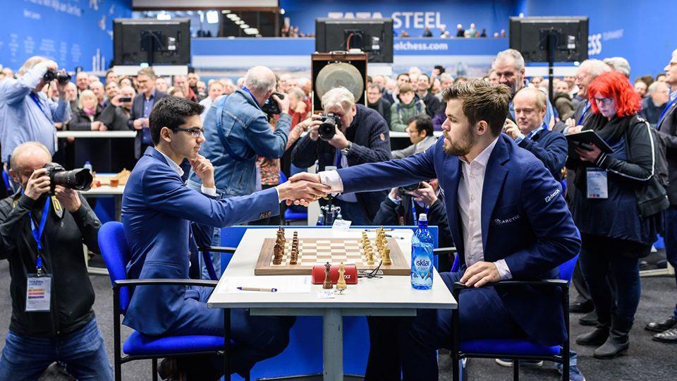 Afbeeldingsresultaat voor tata steel chess 2020 giri carlsen