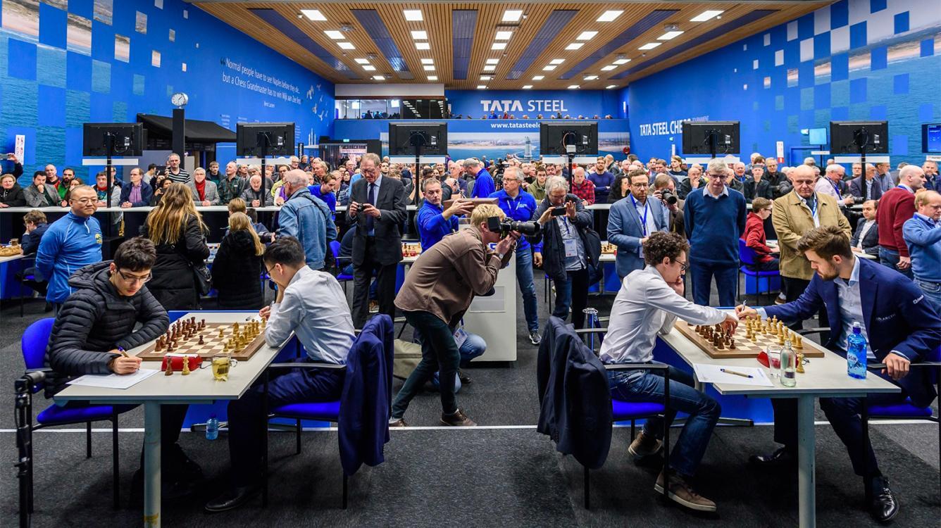 Dubov, Giri Score In Tata Steel Chess Round 6