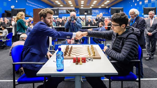 Carlsen Beats Firouzja In Tata Steel Chess Round 9