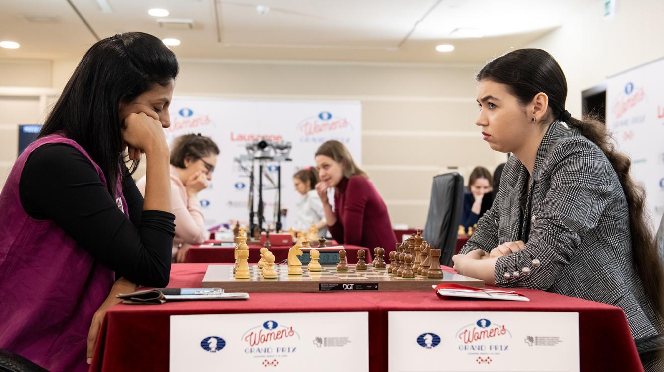 Goryachkina, Harika Lead Lausanne Women's Grand Prix