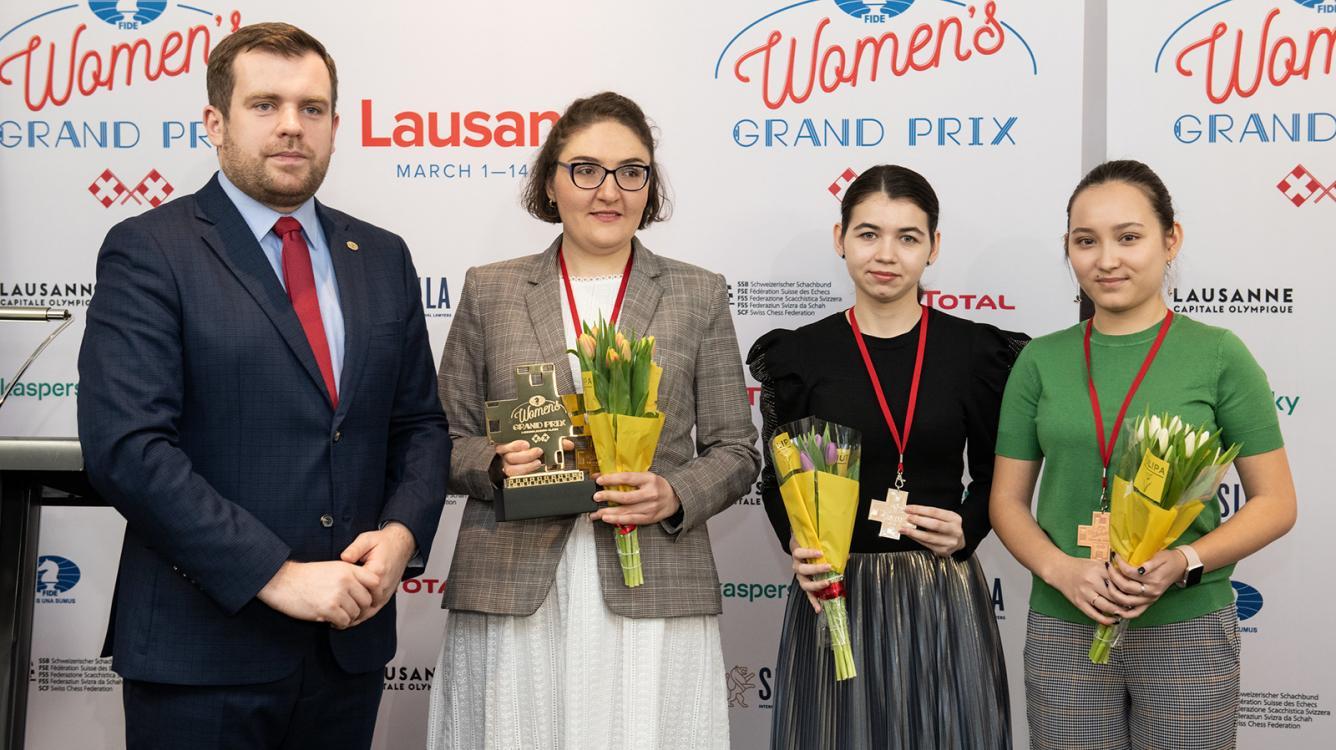 Dzagnidze Wins Lausanne Women's Chess Grand Prix