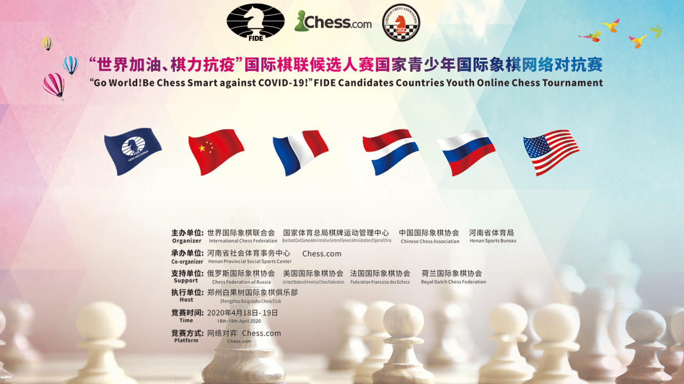 April 18-19: FIDE Candidates Countries Youth Online Chess Tournament