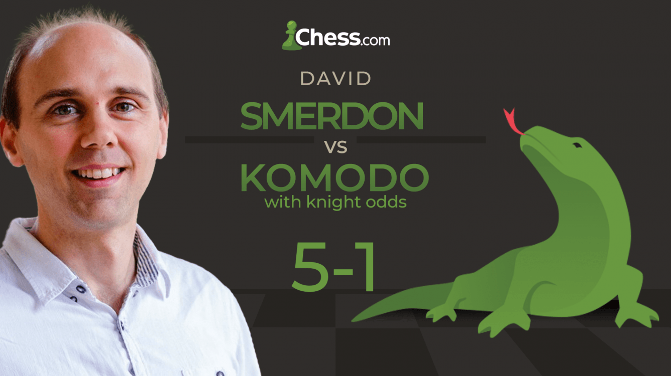 Smerdon Beats Komodo 5-1 With Knight Odds