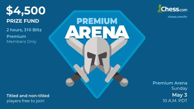 Das erste Arena-Turnier mit Geldpreisen für Premium Mitglieder