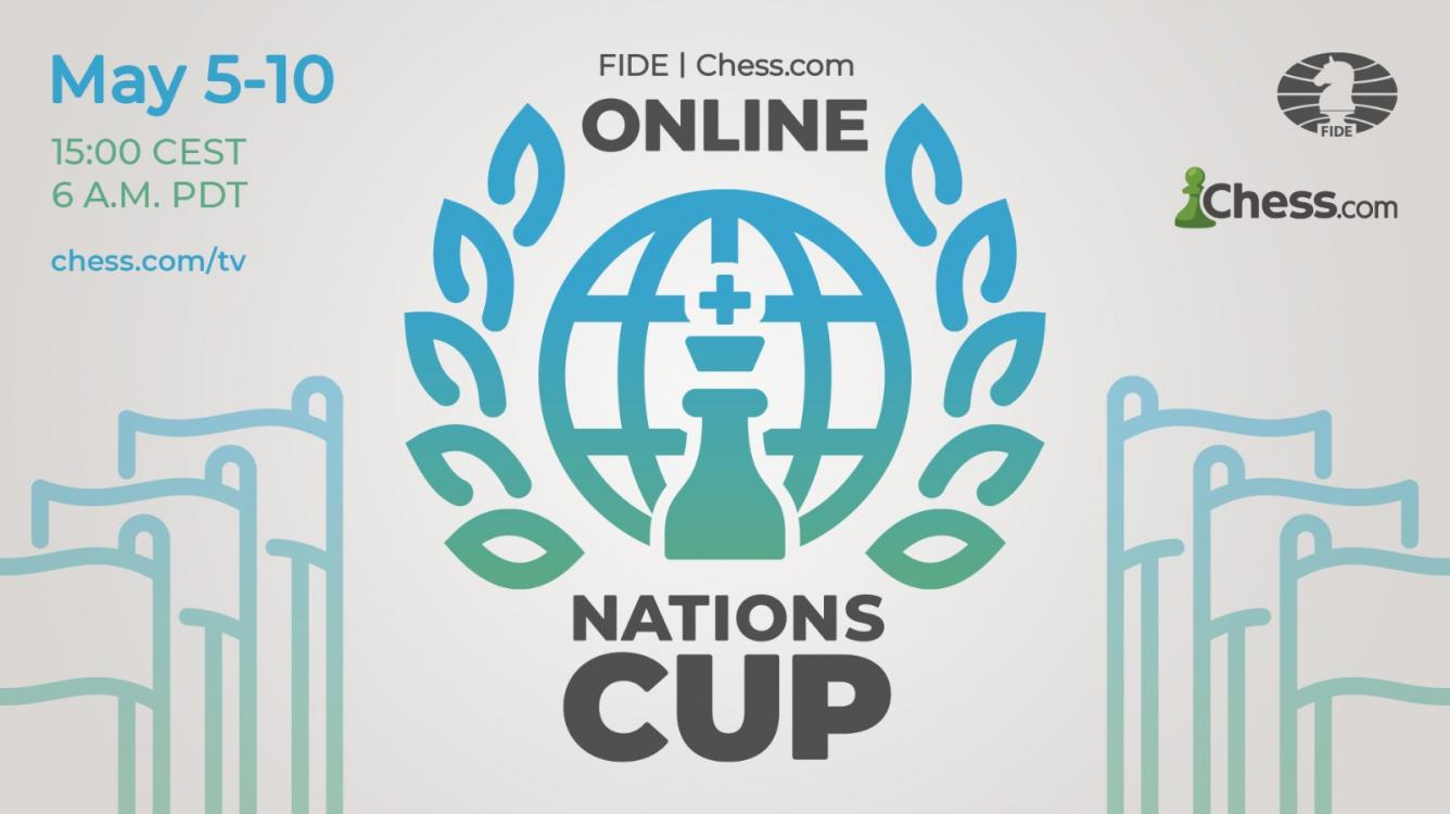 Anunciamos a Online Nations Cup da FIDE e do Chess.com