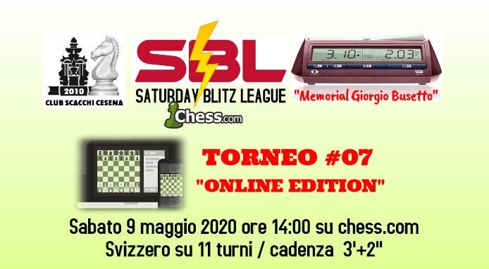 Saturday Blitz League - Online Edition - Torneo #7