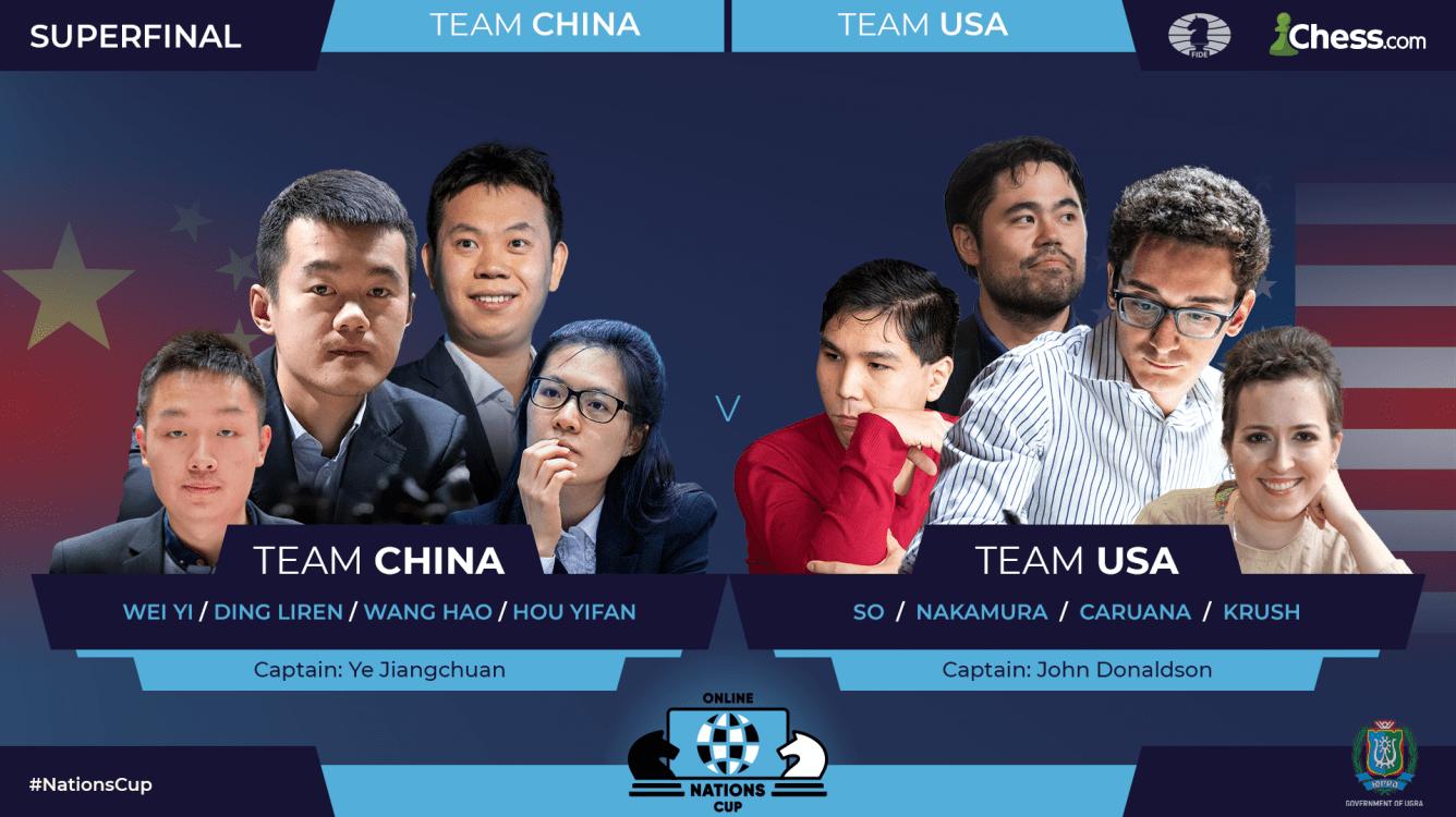 Les américains rejoignent la Chine en Super-finale