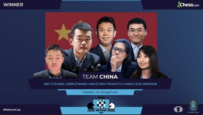China gewinnt den FIDE Chess.com Online Nations Cup