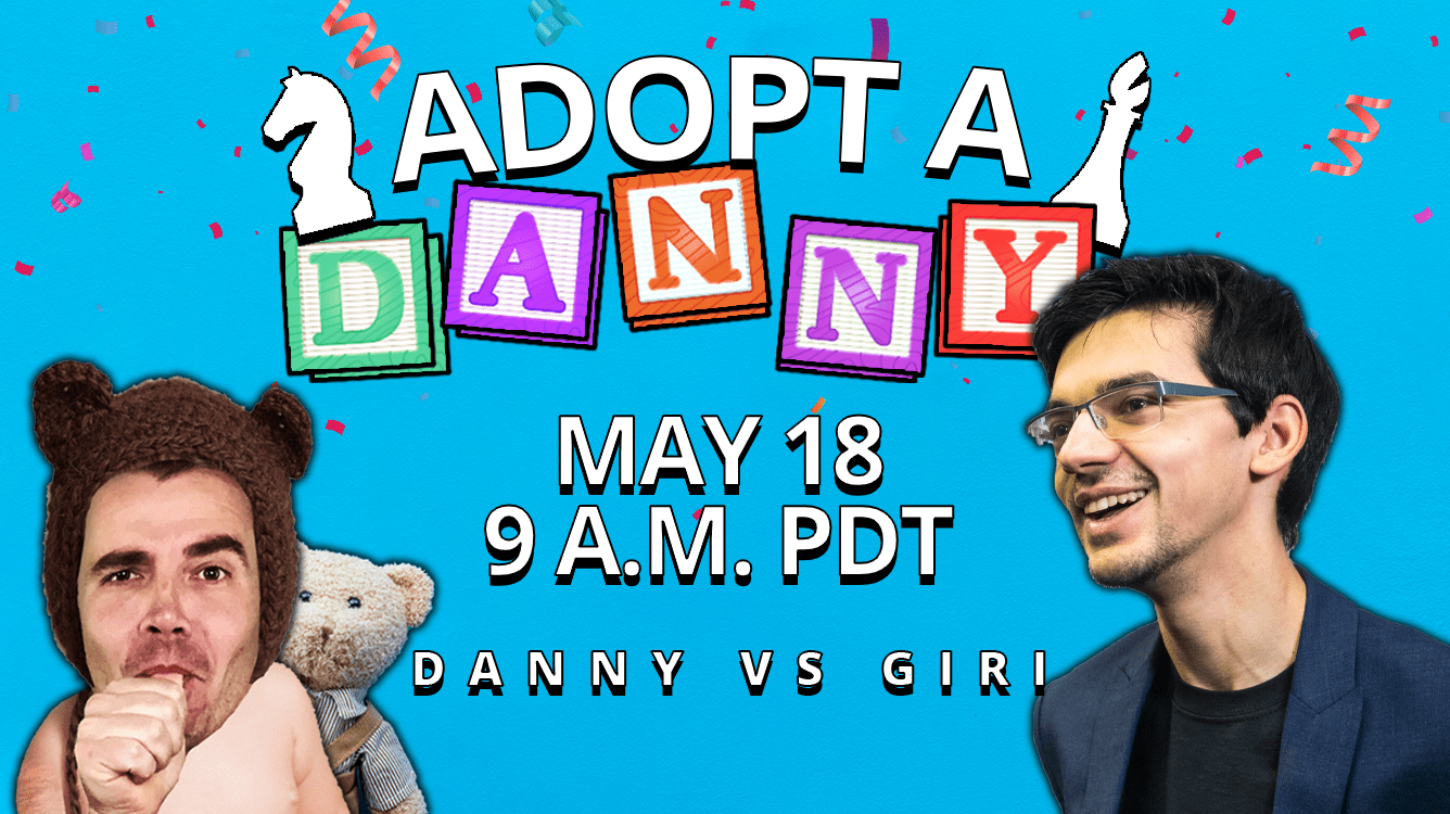 Adopt-A-Danny Returns Monday With Anish Giri