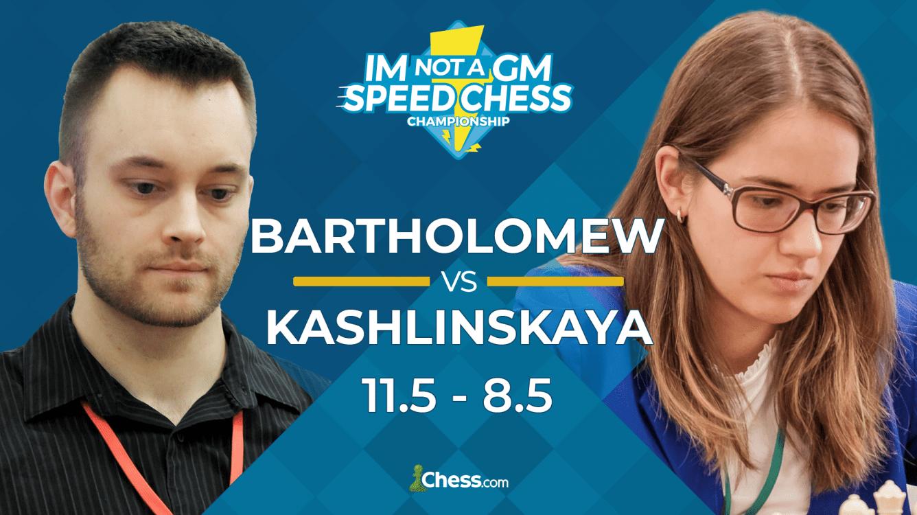 Bartholomew Wins IM Not A GM Speed Chess Championship