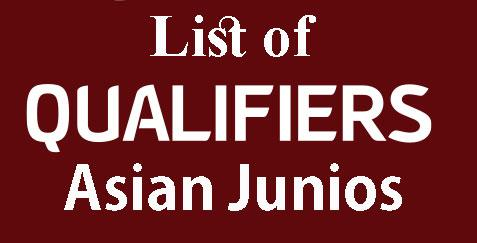 List of Qualifiers to Asian Juniors and Girls Online Chess Championship 2020