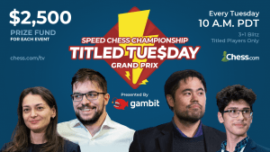 Les Titled Tuesday se muent en Grands Prix de Speed Chess Championship