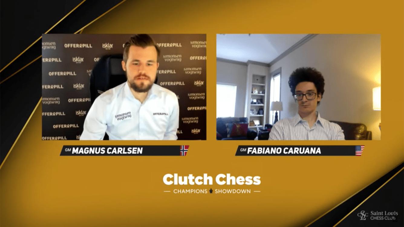 Carlsen-Caruana Tied Halfway Clutch Chess Final